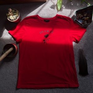 """Forever 21 Tops - Red """"Over It"""" Tee"""